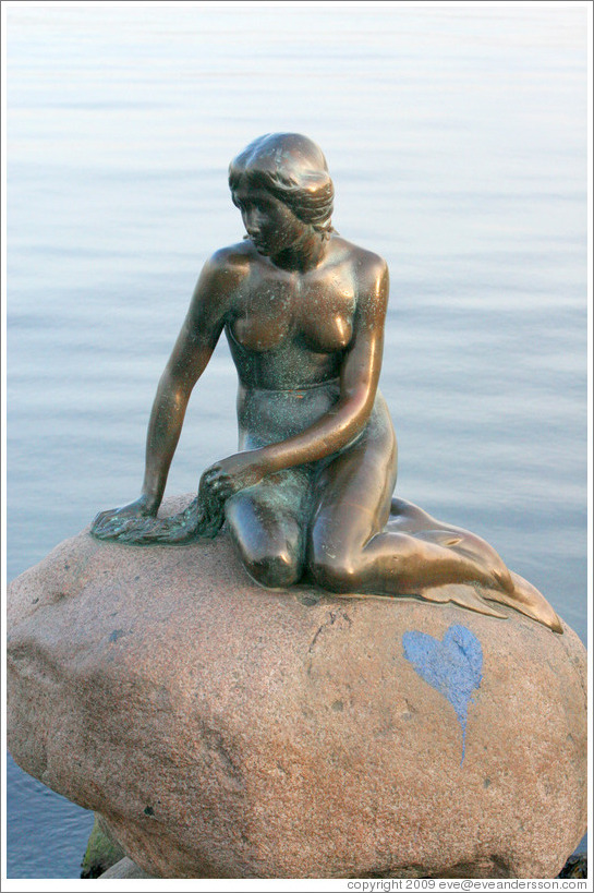 The Little Mermaid.  Copenhagen harbour.