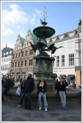 Fountain at Amagertorv.  City centre.