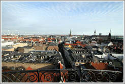 View to the southeast from Rundetaarn (The Round Tower). Kunsthallen Nikolaj is in the center.
