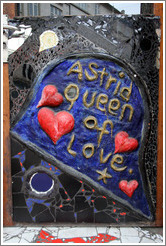 Astrid Queen of Love, on an establishment on Oehlenschl�gergade.  Vesterbro district.