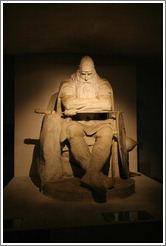 Statue of Holger Danske (Holger the Dane).  Casemates (underground rooms and tunnels).  Kronborg Castle.  Helsing�r.