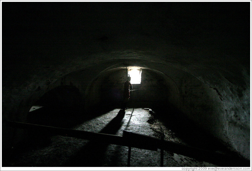 Casemates (underground rooms and tunnels).  Kronborg Castle.  Helsing?r.