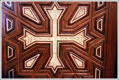 Coptic cross wall decoration.  Hanging Church (El Muallaqa).