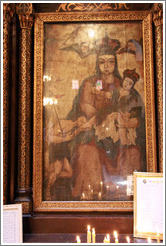 The Virgin Mary, with Egyptian facial features.  Hanging Church (El Muallaqa).