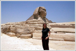 Eve in front of the Great Sphinx.