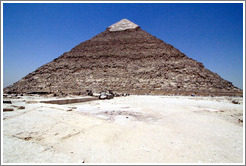 Pyramid of Khafre, the 2nd largest of the pyramids at Giza.