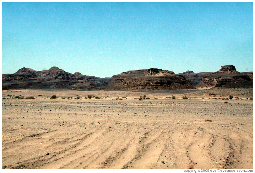 Sinai Desert (pink and brown).