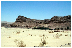 Sinai Desert (beige and grey, with Bedouin dwellings).