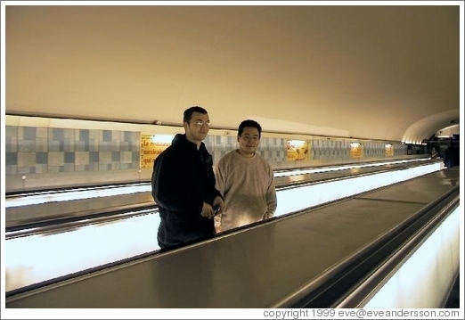 Jin and Rolf at a Paris Metro station.