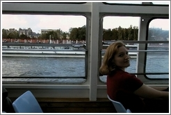 Eve on the Bat-o-Bus, Seine River.