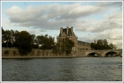 View of Paris from the Seine River.