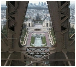 Trocadero, viewed from the elevator of the Eiffel Tower.