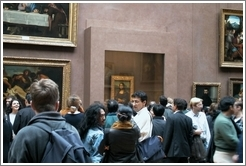 Louvre.  Crowd at the Mona Lisa.