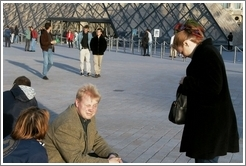 Louvre.  Tracy, Malte, and Eve.