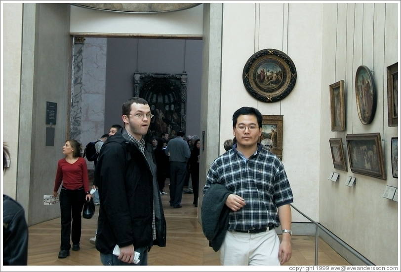 Louvre.  Rolf and Jin.