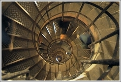Spiral staircase inside the Arc de Triomphe.