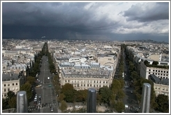 View of Paris from the Arc de Triomphe.
