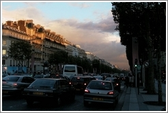 Champs Elysees at dusk.