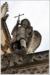 Angel at the top of Cathedrale St-Sauveur.