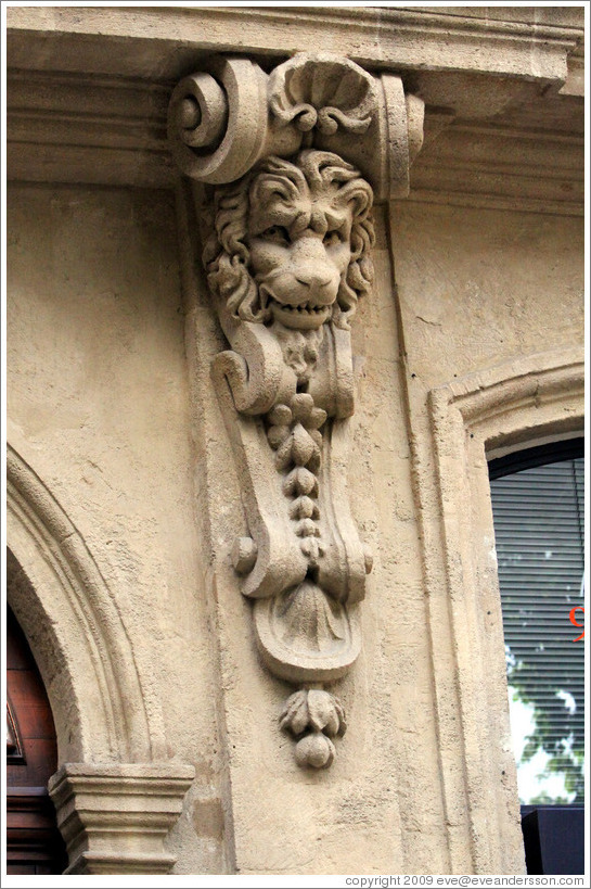 H? du Po? built around 1730.  Lion detail.  Cours Mirabeau.