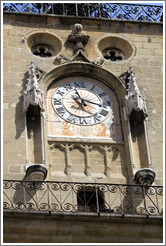 Clock tower, the former town belfry, containing an astronomical clock dating from 1661.  Adjoining the H? de ville (city hall).
