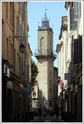 Clock tower, the former town belfry, containing an astronomical clock dating from 1661.  Adjoining the H�tel de ville (city hall).