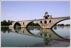 Pont Saint-B�nezet, a.k.a. Pont d'Avignon, built between 1171 and 1185.
