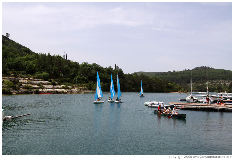 Boats in the Lac d'Esparron.