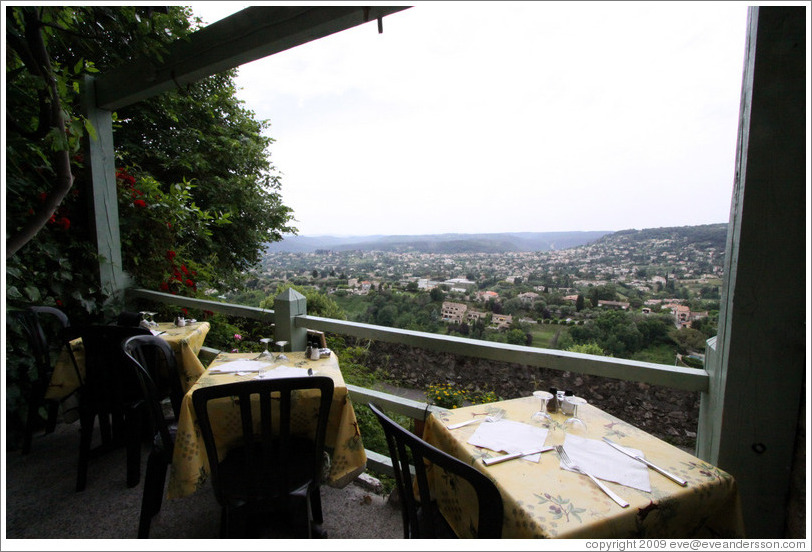 View from La Sierra restaurant on Les Remparts Oest.