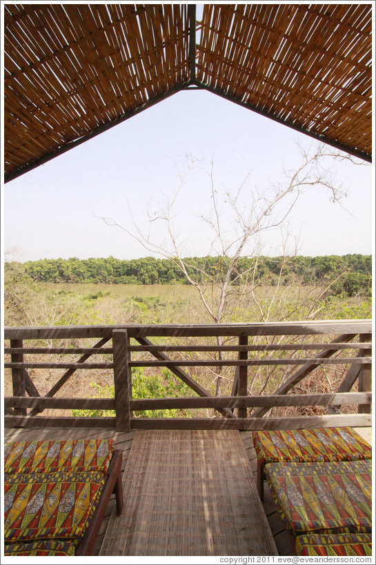 Balcony off safari tent.