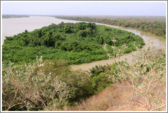Island known as Little Africa in the River Gambia.