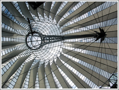 Ceiling of Potsdamer Platz tent-like building.