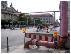 Water pipes for heating in West Berlin.