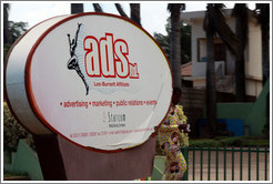 Sign for an advertising company called Ads Ltd.