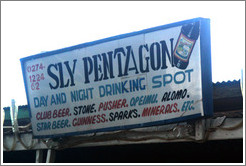 Sly Pentago Day and Night Drinking Spot.