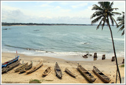 Boats and remains of a dock, Elmina Castle.