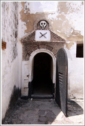 Door with a skull over it, Elmina Castle.