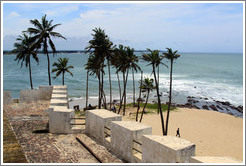 View of the coast from Elmina Castle.