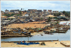 View of the town of Elmina from Elmina Castle.