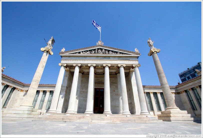 Academy of athens photo id 13293 athens for Arquitectura neoclasica