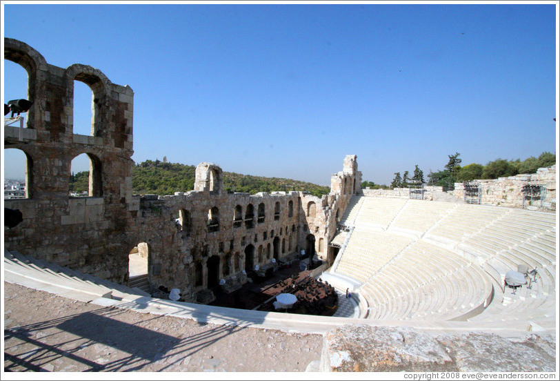 Odeon of Herodes Atticus (Ωδείον Ηρώδειον Αττικού) at the Acropolis (Ακρόπολη).
