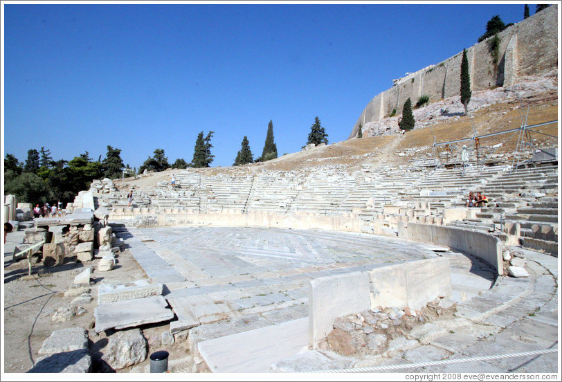 The Theatre of Dionysus (Θέατρο του Διονύσου) at the ...