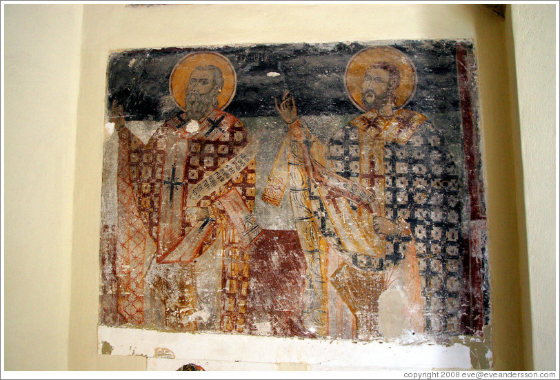 Mural within the Aghion Apostolon (Άγιον Απόστολον) church at Agora (Αγορά).