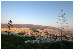 Athens viewed from Mount Lycabettus (Λυκαβηττός).