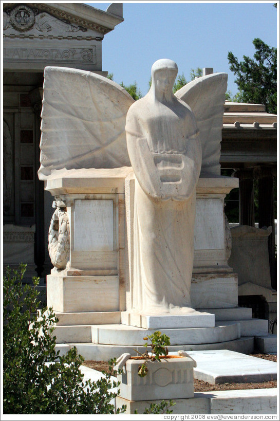 Angel.  The First Cemetery of Athens (Πρώτο Νεκροταφείο Αθηνών).