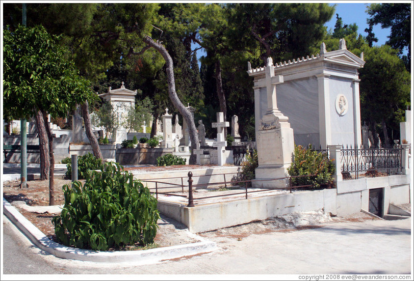 The First Cemetery of Athens (Πρώτο Νεκροταφείο Αθηνών).