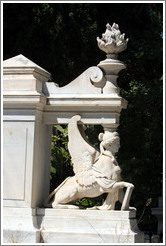 Winged female figure.  The First Cemetery of Athens (Πρώτο Νεκροταφείο Αθηνών).
