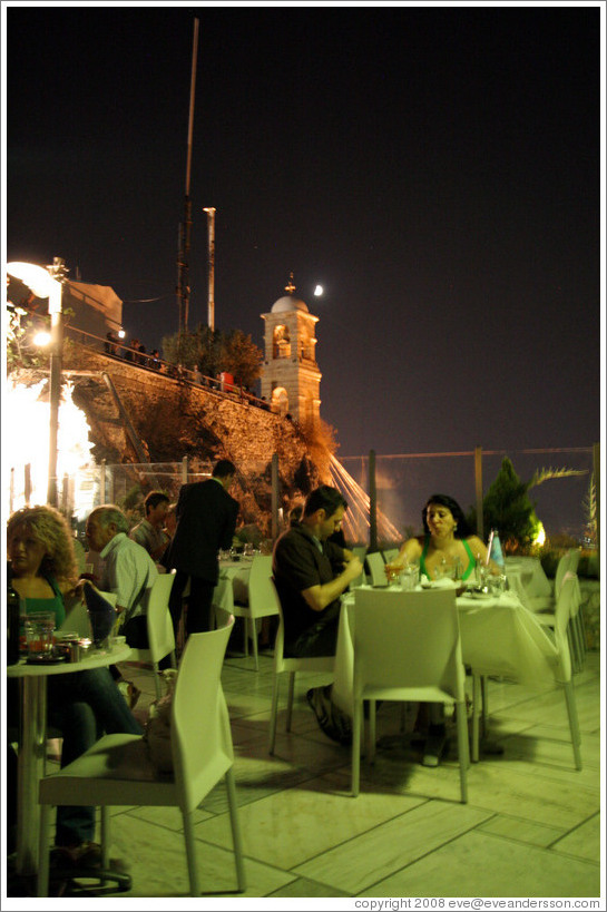 Likavittos restaurant at the top of Mount Lycabettus (Λυκαβηττός).