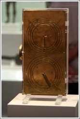 Reconstruction of the Antikythera Mechanism at the National Archaeological Museum.