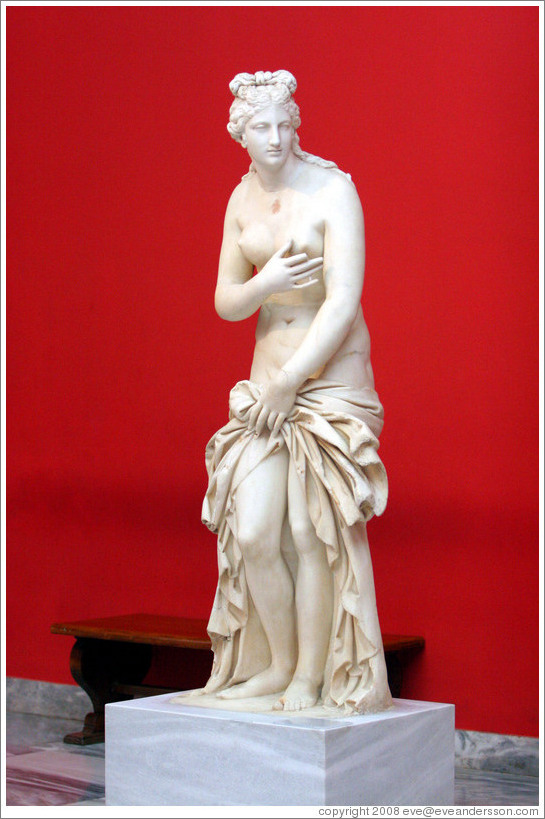 Statue of Aphrodite from the 2nd century AD.  National Archaeological Museum.